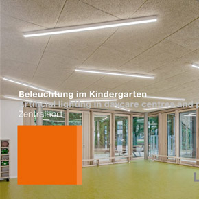 Luxsystem Artificial lighting in daycare centres and preschools Zentralhort Teaser