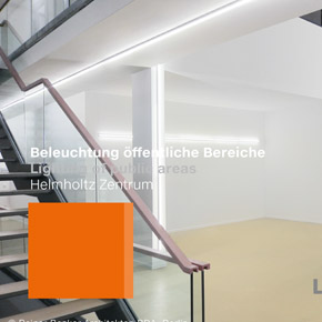 Luxsystem Lighting of public areas Helmholtz Zentrum Teaser