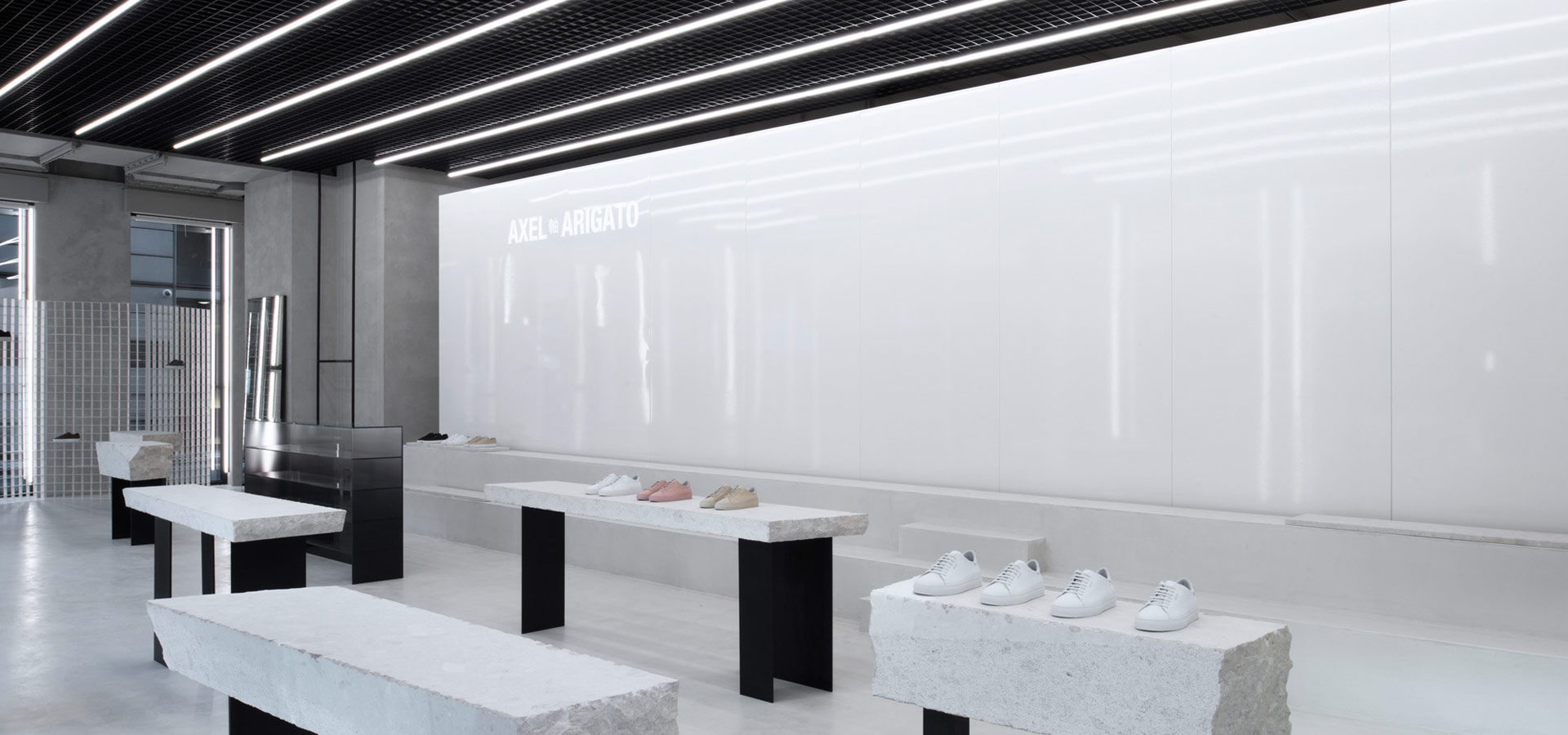 Led Linienle arigato shop lighting with led light line from luxsystem