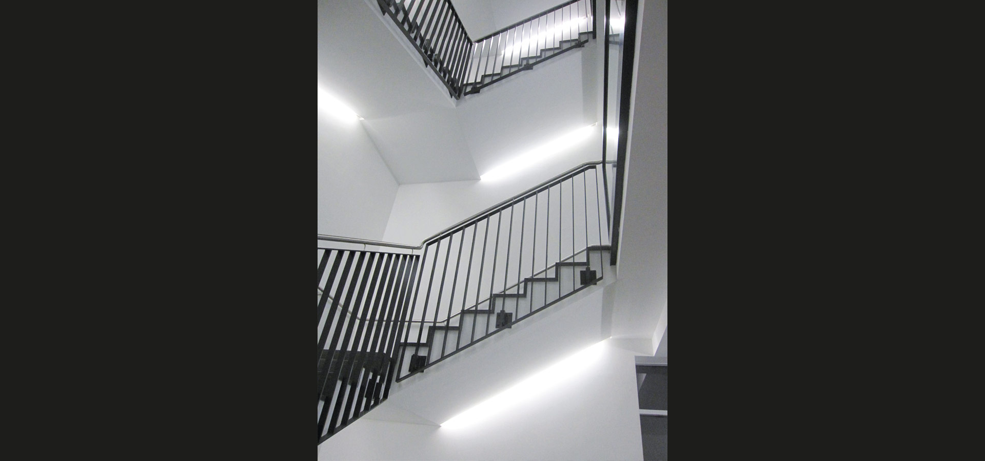 Luxsystem luminaires staircase lighting for hospitals light strip optimally illuminate