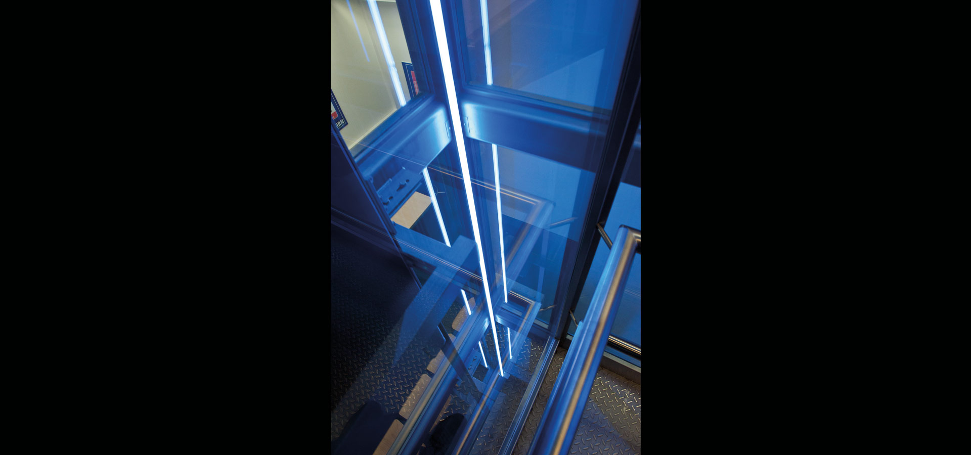 Led Linienle saturn elevator lighting with led light line 20 3 by luxsystem