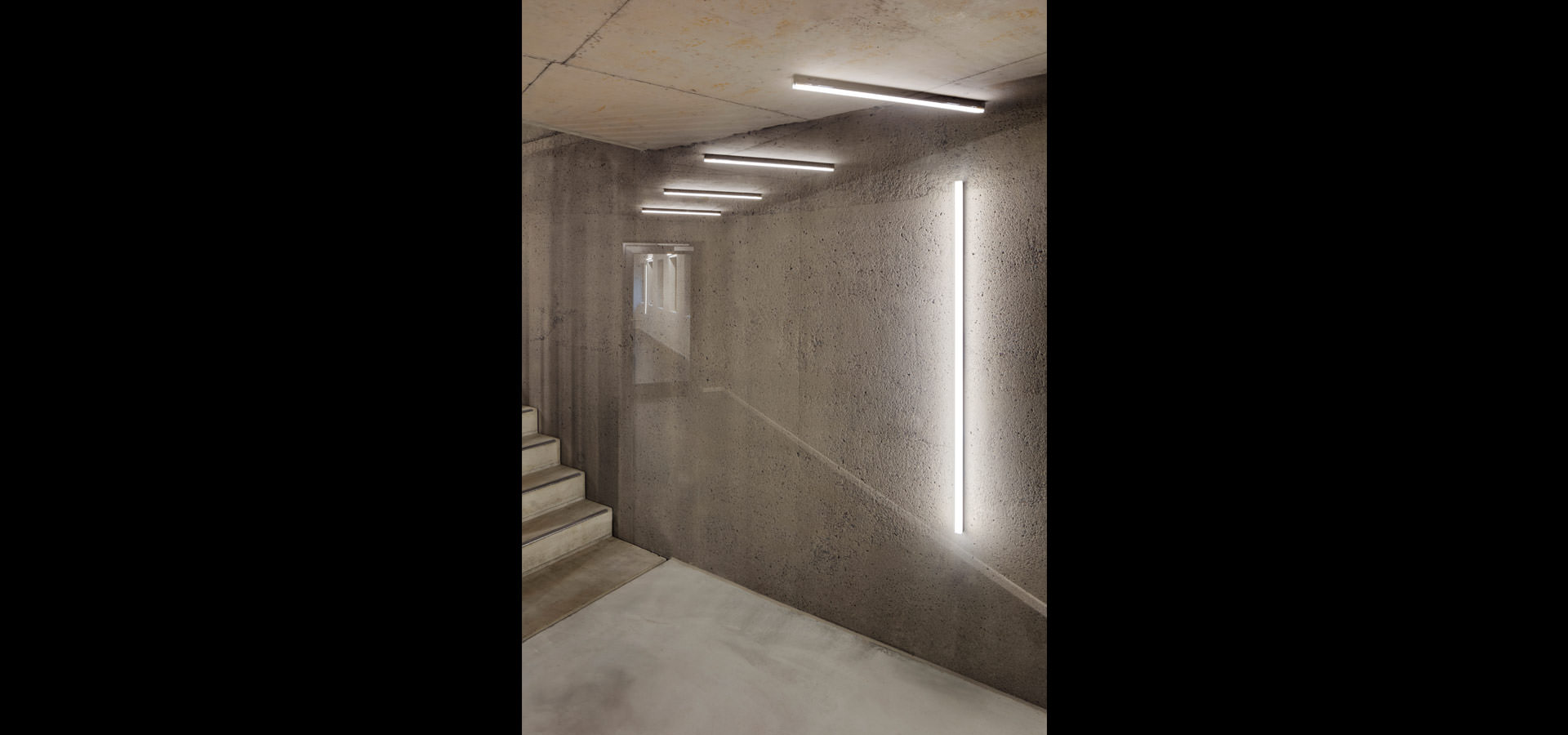LED lighting with luminaires from Luxsystem purism and Architectural lighting in Woodie