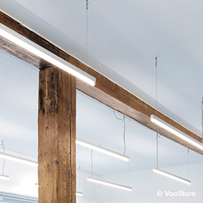 Pendant luminaires for shop lighting detail Luxsystem SL 20.3 silver