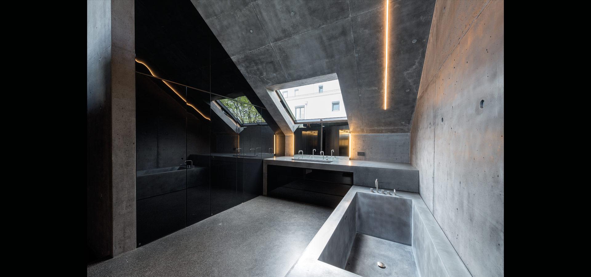 schlanke gradlinige lichtlinien im privathaus von luxsystem. Black Bedroom Furniture Sets. Home Design Ideas