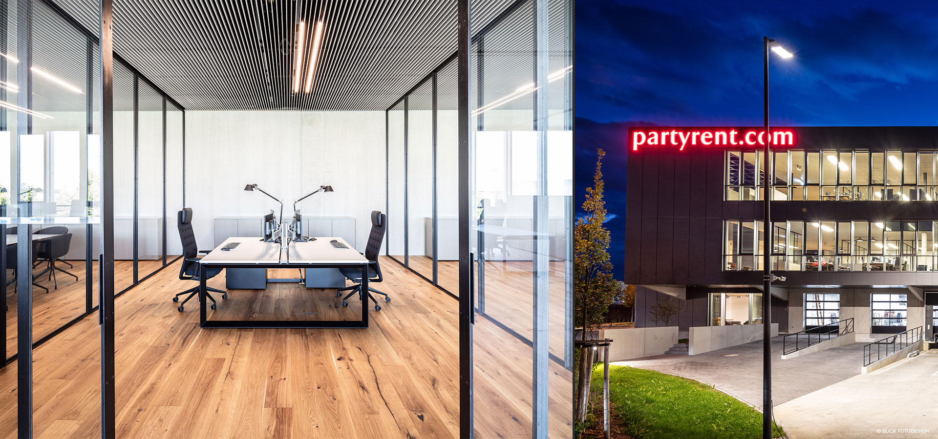 Office lighting Party Rent Munich with Luxsystem LED Lights
