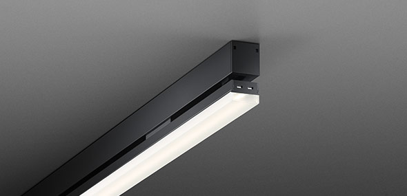 LED luminaire light line 20.2 LED Anodized black Luxsystem