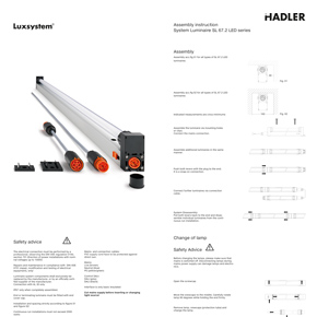 Downloads SL 67.2 LED Assembly instructions
