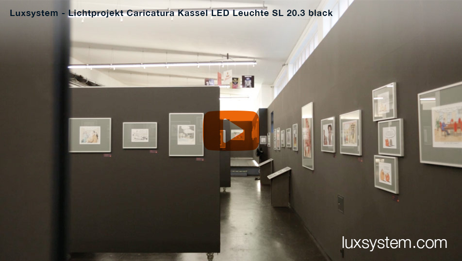 Video project: Lighting project Caricatura Kassel LED luminaire SL 20.3 black